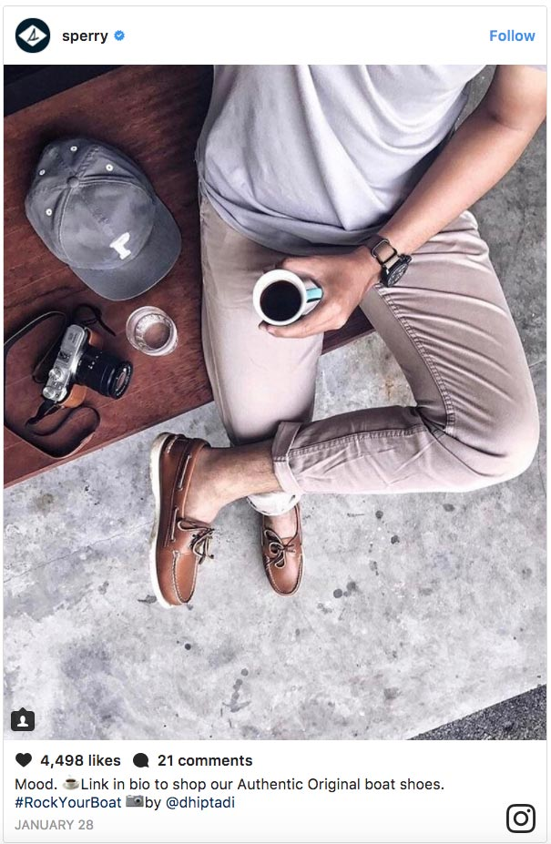 Sperry micro-influencers example
