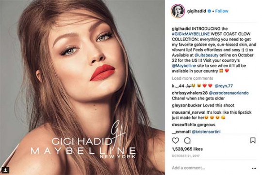 publication Gigi-Hadid Instagram
