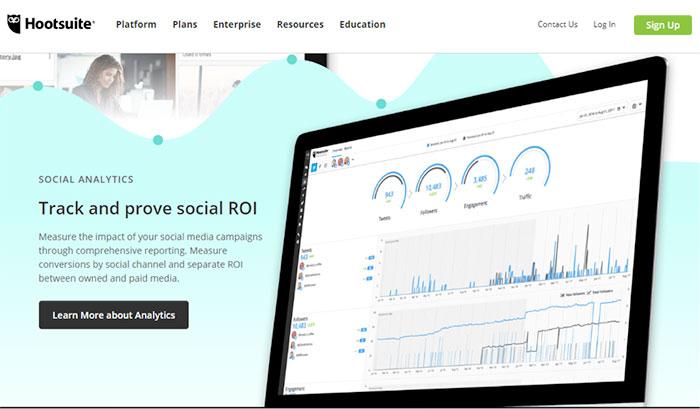 hootsuite - twitter analytics