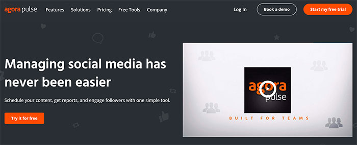Agorapulse - social media analytics