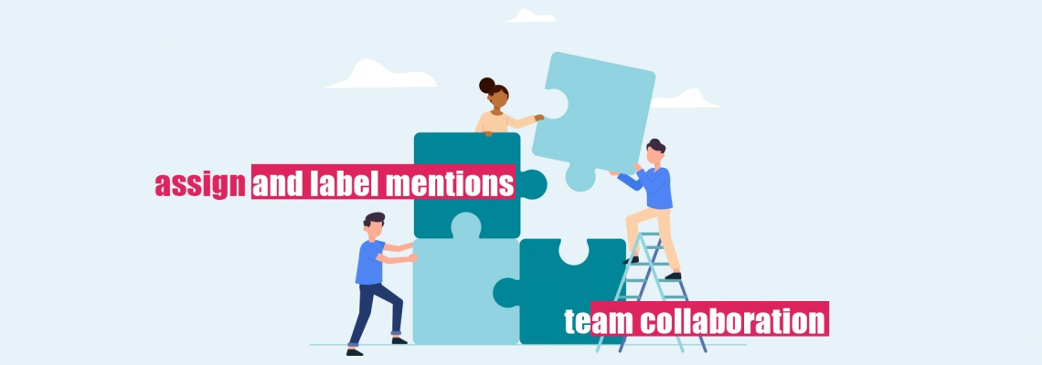 Effective team collaboration feature to assign and label mentions with Mentionlytics
