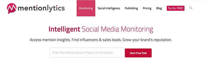 Mentionlytics social media monitoring