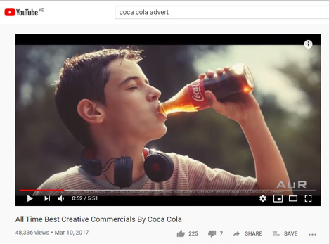 Coca Cola Creative Ad Youtube