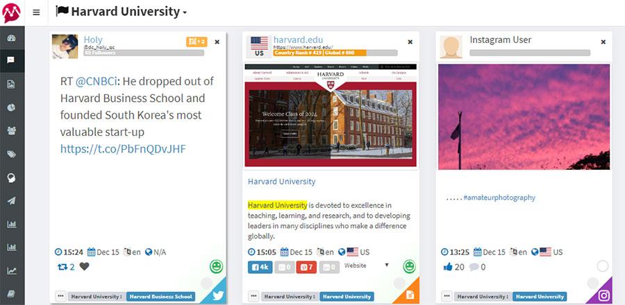 Social Media Monitoring for Universities