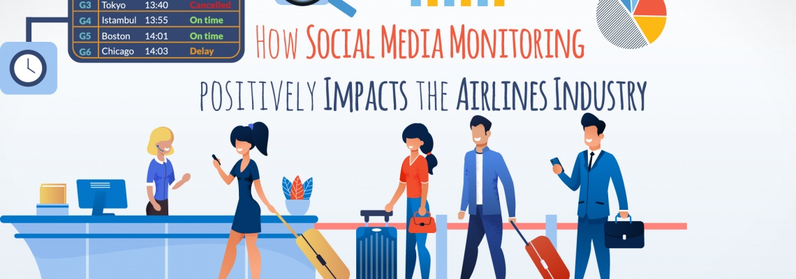 How Social Media Monitoring positively Impacts the Airlines Industry