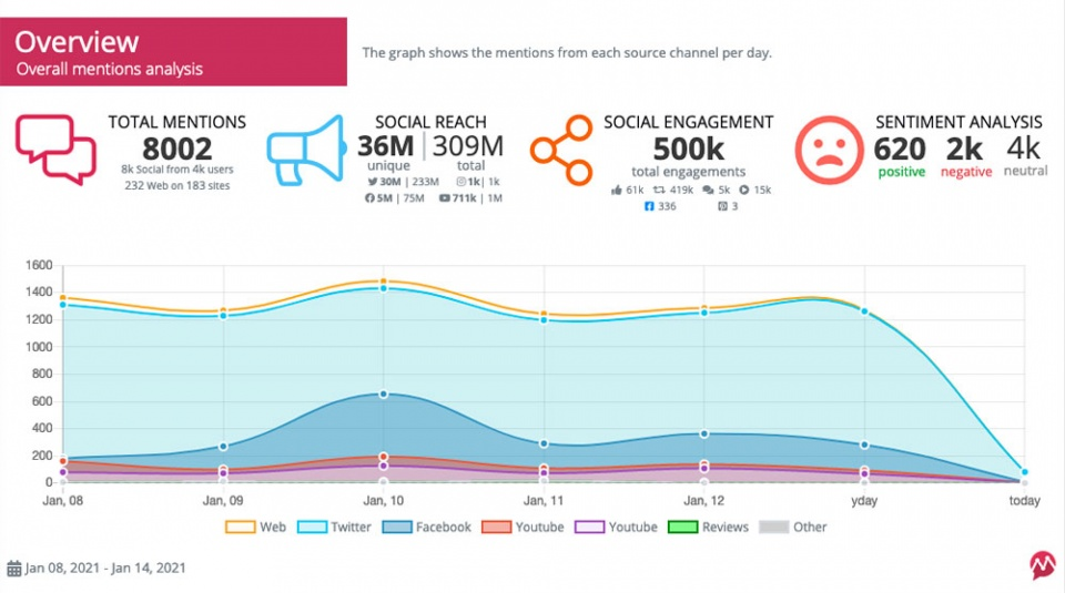 mentionlytics report overview