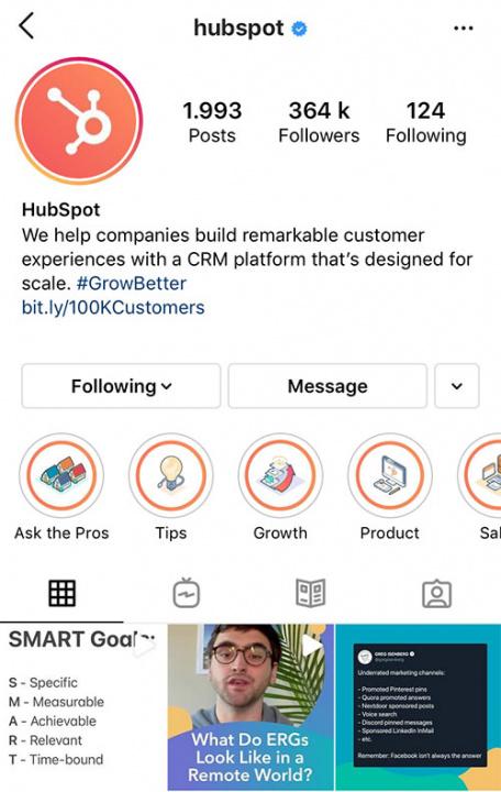 hubspot-instagram stories