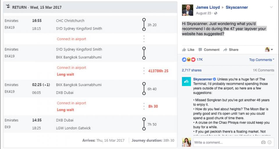 skyscanner-facebook-post-customer-relationship