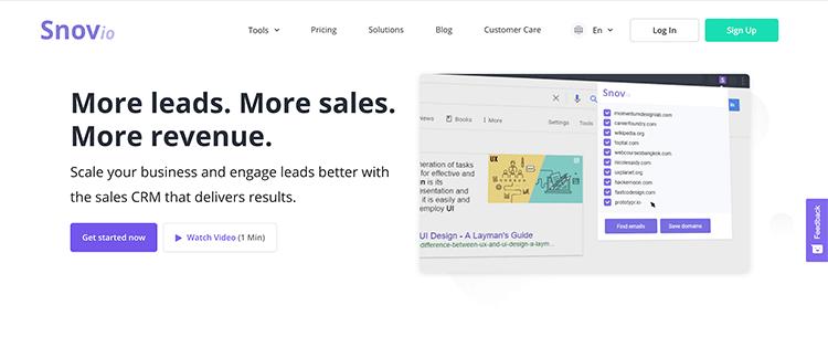 Landing-page-snov-io-influencer-outreach